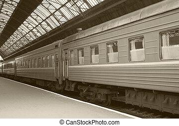 train on railway station