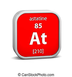 Astatine material sign - Astatine material on the periodic...