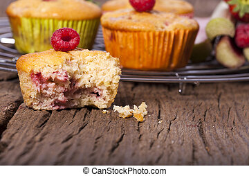 Delicious fruit muffins