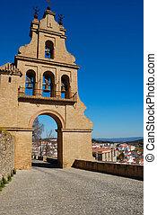ścieżka, kościół, Aracena, Andalusia, Hiszpania