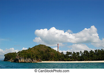 Coal-Fired power plant as seen from sea