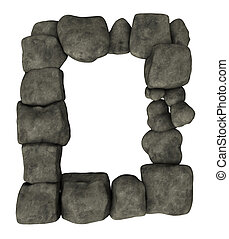 stone frame - frame border made with stones - 3d...