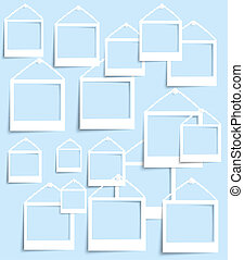 Vector palaroid pattern 29042013 - Vector photo frame banner...
