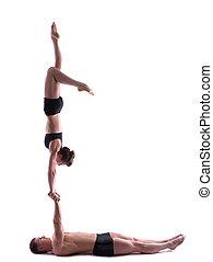 Image of couple two flexible acrobats