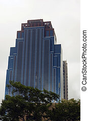 Worm\\\'s eye view of building