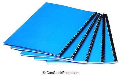 Blue Spiral bound note books