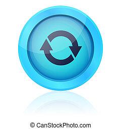 Blue vector update button