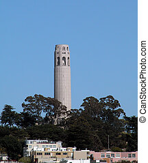 Coit Tower is a landmark in San Francisco.