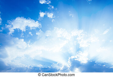 white clouds  - Beautiful blue sky and white clouds