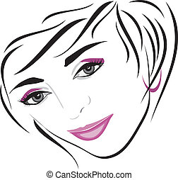 Female hairdo Icon for design Vector illustration