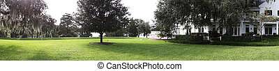 Panoramic view of Harry P Leu Gardens in Orlando, Florida,...