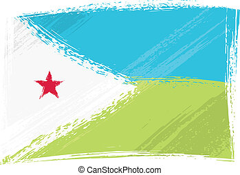 Grunge Djibouti flag - Djibouti national flag created in...