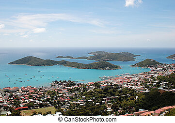 Islands in St Thomas, Caribbean - Islands in St Thomas, US...