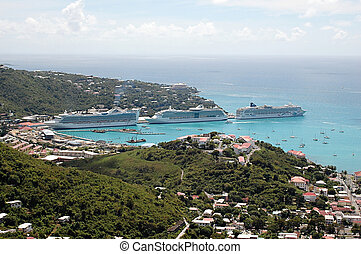 Cruise Ships in St. Thomas, Caribbean