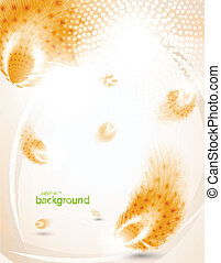 Abstract orange feather background eps10 vector illustration