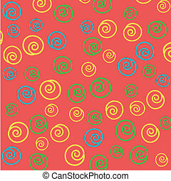 Seamless abstract hand-drawn pattern, background. Can be...
