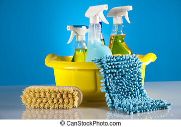 House cleaning products - Variety of cleaning products