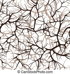 seamless pattern of branches - seamless pattern, interlacing...