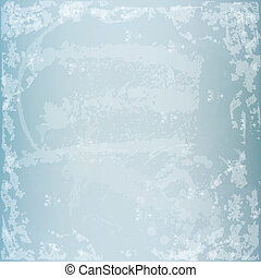 Winter grunge texture vector illustration with flakes