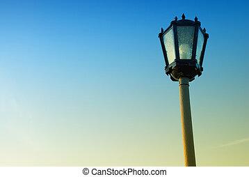 light against the blue sky