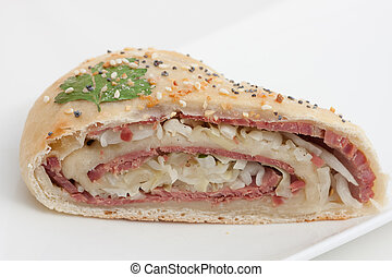 Stromboli - A twist on the traditional corned beef and...