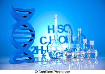 DNA molecules, Laboratory glassware