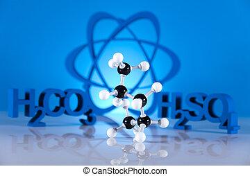 Chemistry on background
