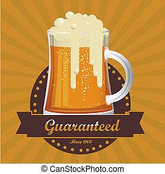 beer free label - Illustration of beer free label, beer...