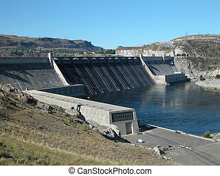 Grand Coulee Dam - Grand Coulee Dam on the Columbia River...