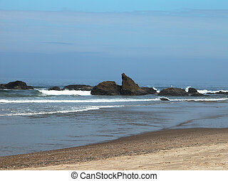 Lincoln City Beach - The beaches in central Oregon are often...