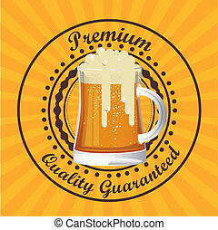 Beer Free label - Illustration of beer free label, beer...
