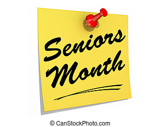 Seniors Month White Background