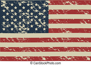 USA poster - Illustration patriot united states of america,...