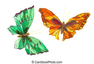 Mariposa paper in a totally white background