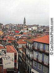 Porto rooftops in city landscape