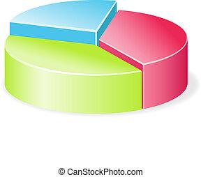 Circular diagram colorful.