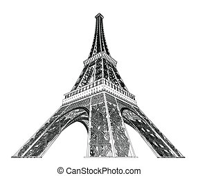 Eiffel tower vector illustration