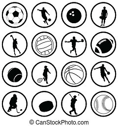 sport icons - vector set of sport icons