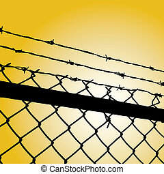 barbed wire - vector illustration of a barbed wire