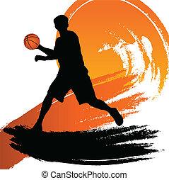 basketball player - vector illustration of a basketball...