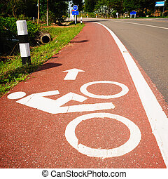 Bike lane in suburban streets