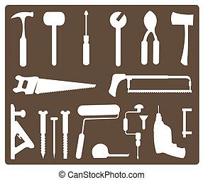 tools - vector set of various tools