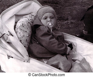 Vintage photo of baby
