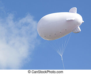 Advertising balloon with free space high in he sky