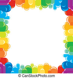 Funky Colorful Frame. Vector Illustration