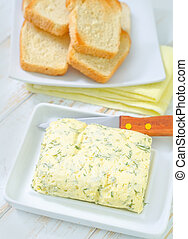 butter with garlic