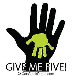 Give me five - Illustration of human hands as a symbol of...