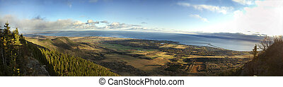 Sea and Forest from St-Joseph mountain view - This was such...