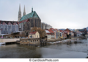 Church and Old Town of Goerlitz - View on the Parish Church...