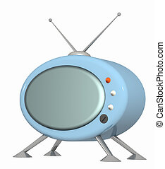 Retro TV - 3d stylized model of a retro of the television....
